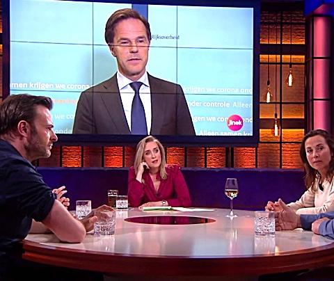 Eva Jinek keert zich tegen visieloze Mark Rutte