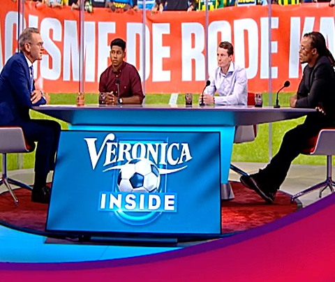 Kritiek in Studio Voetbal op plaaggeest Veronica Inside