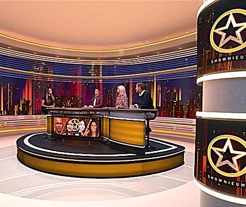Shownieuws-sterren lyrisch over gloednieuw decor