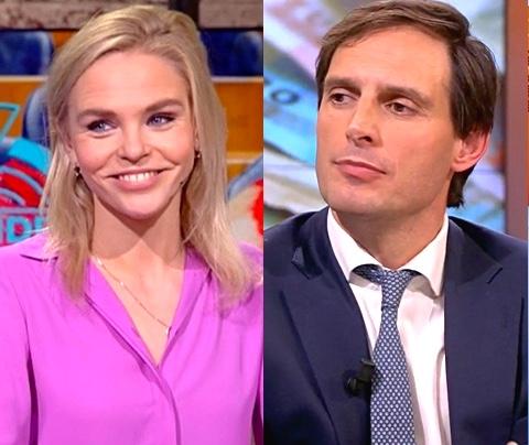 Wopke Hoekstra betrapt SBS-verslaggeefster op ijsbaan