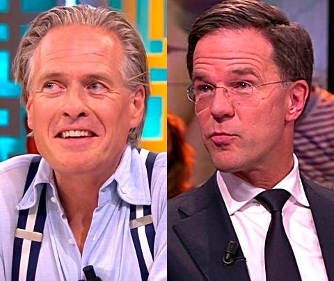 Jort Kelder en Mark Rutte samen op Terschelling