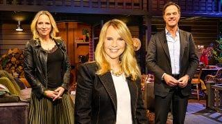 Floortje Dessing, Linda de Mol en Mark Rutte