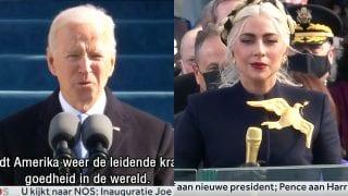 Joe Biden en Lady Gaga