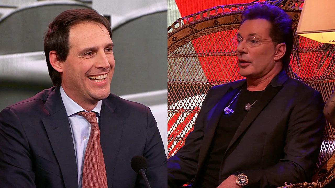 Wopke Hoekstra en Gerard Joling