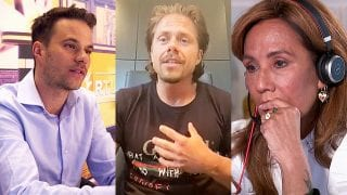 Aran Bade, André Hazes jr. en Patty Brard