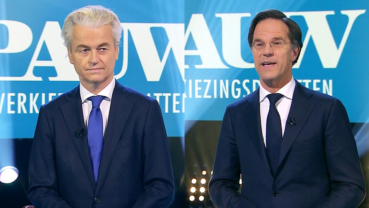 Geert Wilders en Mark Rutte