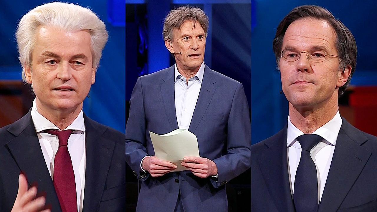 Geert Wilders, Pieter Jan Hagens en Mark Rutte