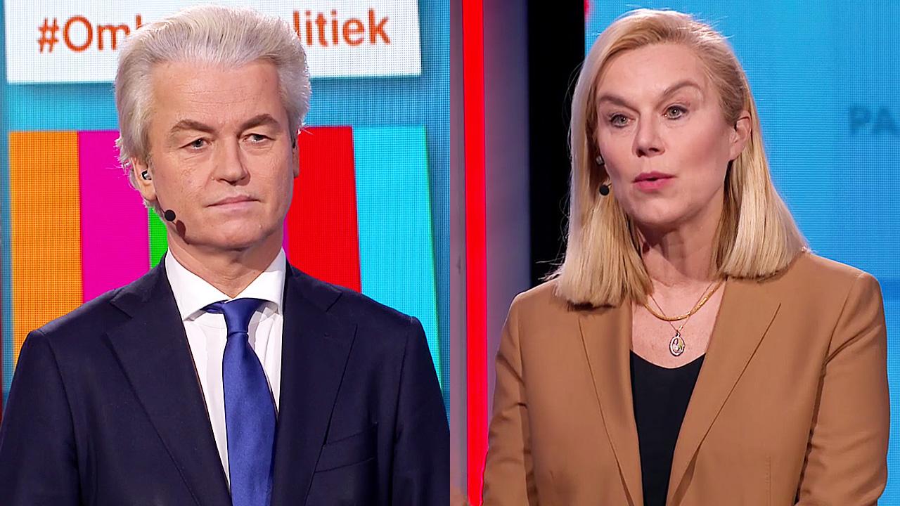 Geert Wilders en Sigrid Kaag