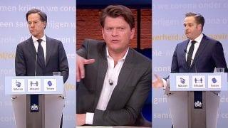 Mark Rutte, Beau van Erven Dorens en Hugo de Jonge