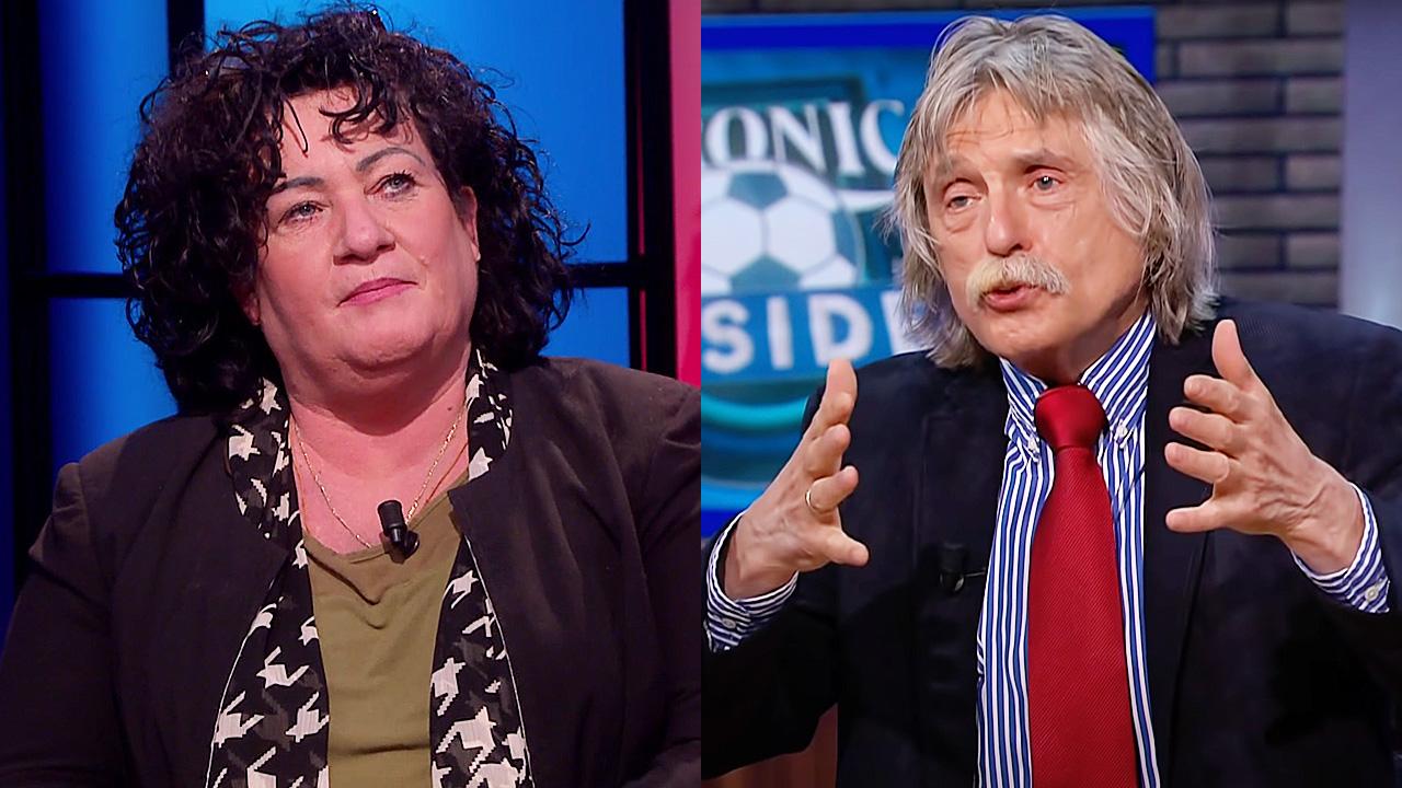 Caroline van der Plas en Johan Derksen
