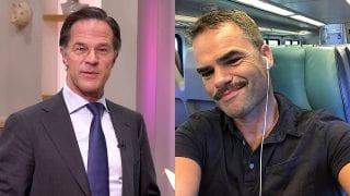 Mark Rutte en Erik Mouthaan