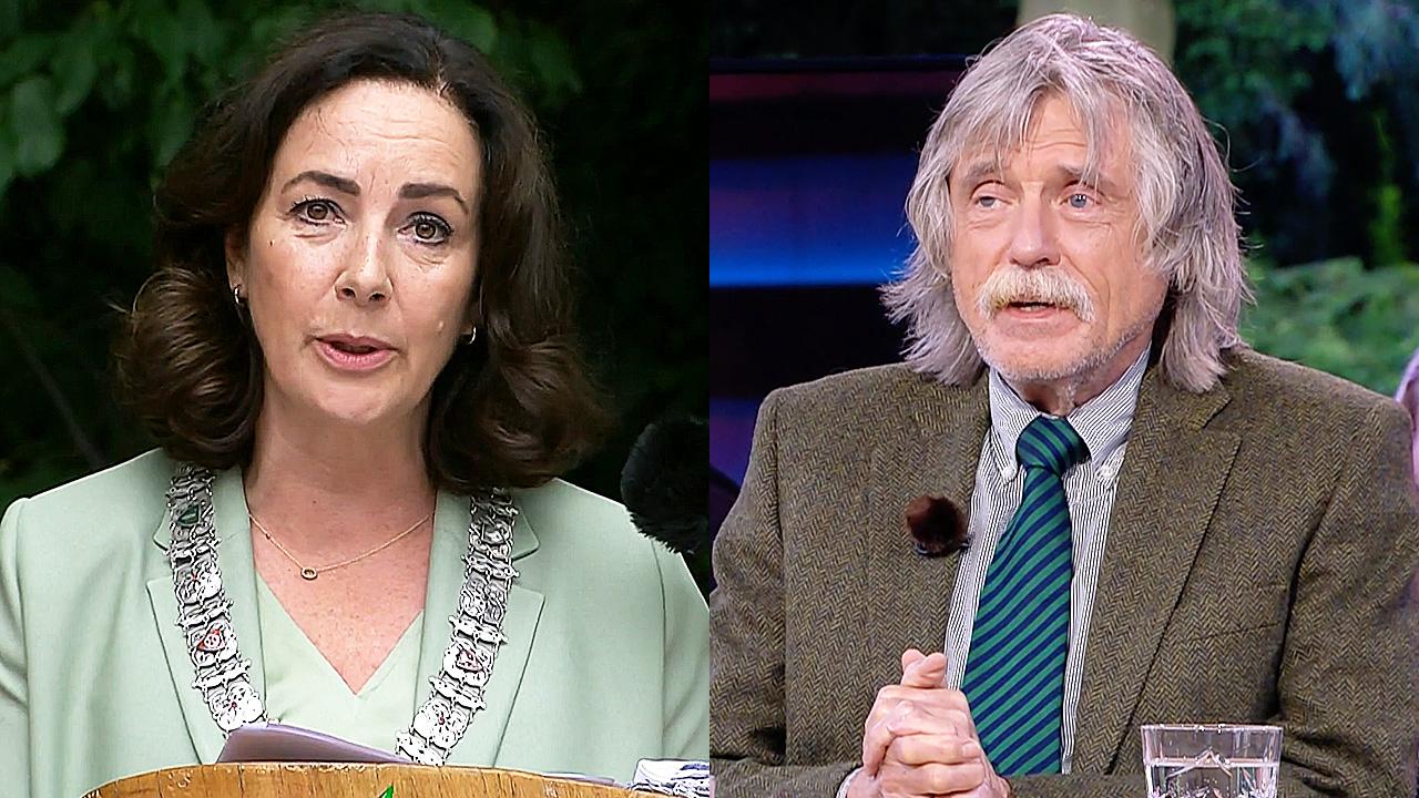 Femke Halsema en Johan Derksen