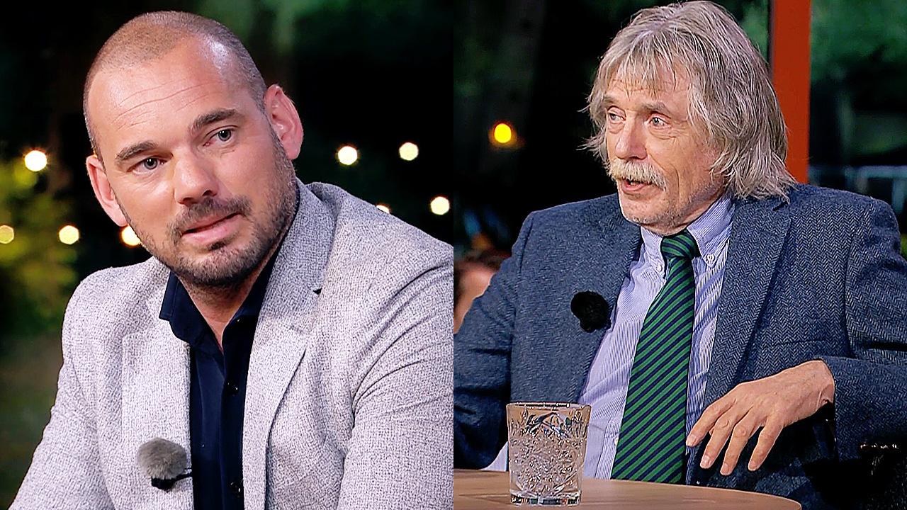 Wesley Sneijder en Johan Derksen