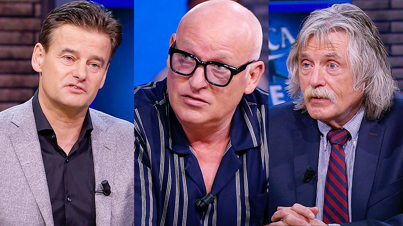 Wilfred Genee, René van der Gijp en Johan Derksen