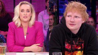 Eva Jinek en Ed Sheeran